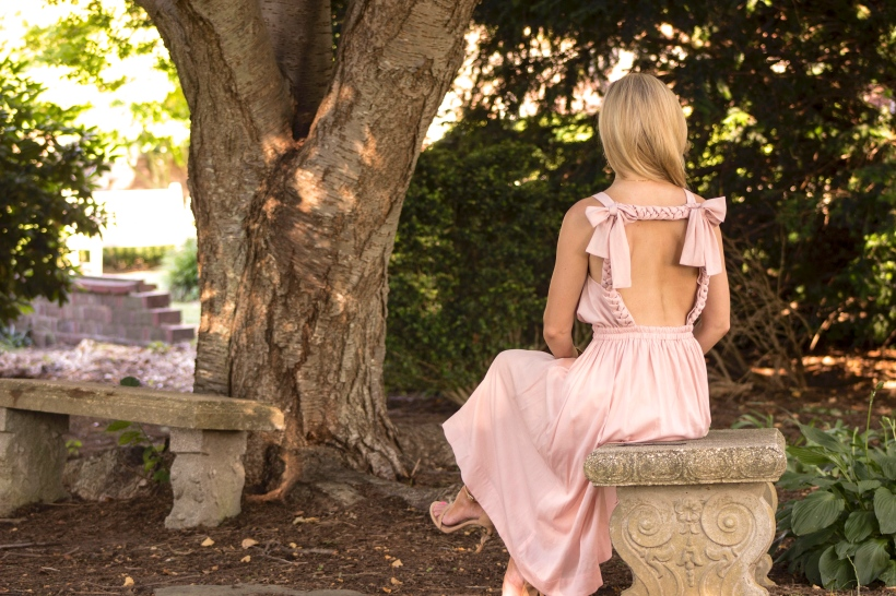 Pink Backless Dress