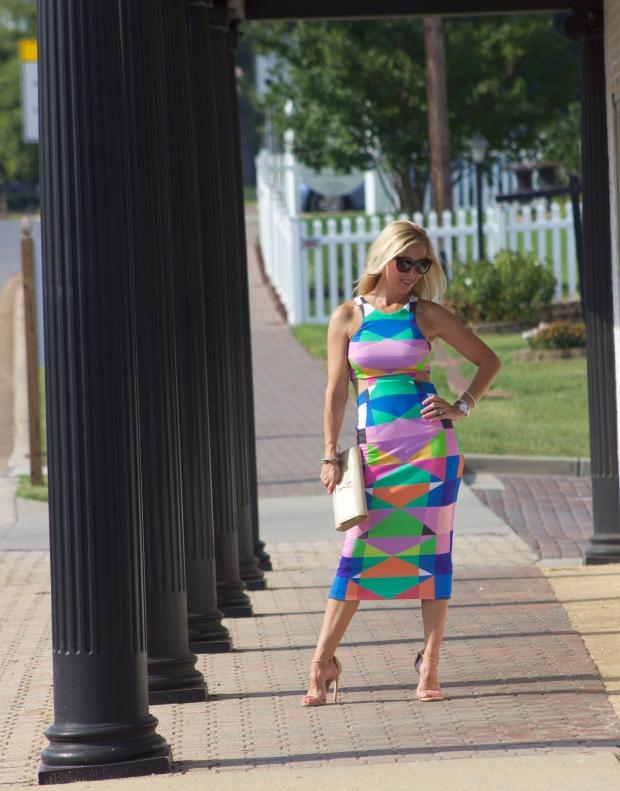 Mara Hoffman Ponte Cut Out Dress