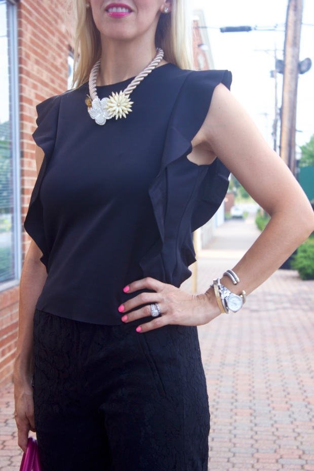 Ruffles and Lace All Black