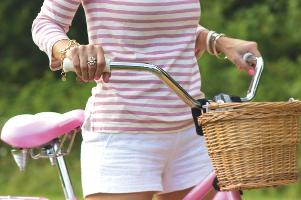 Pink Stripes & Pink Bike