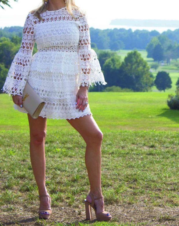 SheIn White Crochet Dress