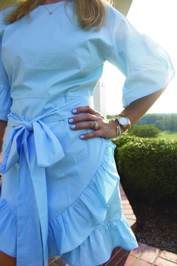 SheIn Blue Ruffle Dress 2 Ways