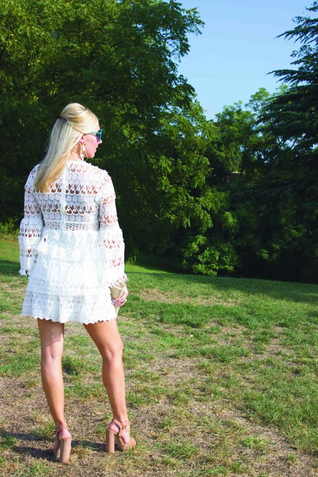 SheIn White Crochet Dress