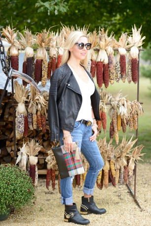 Best T-Shirt and Faux Leather Moto Jacket
