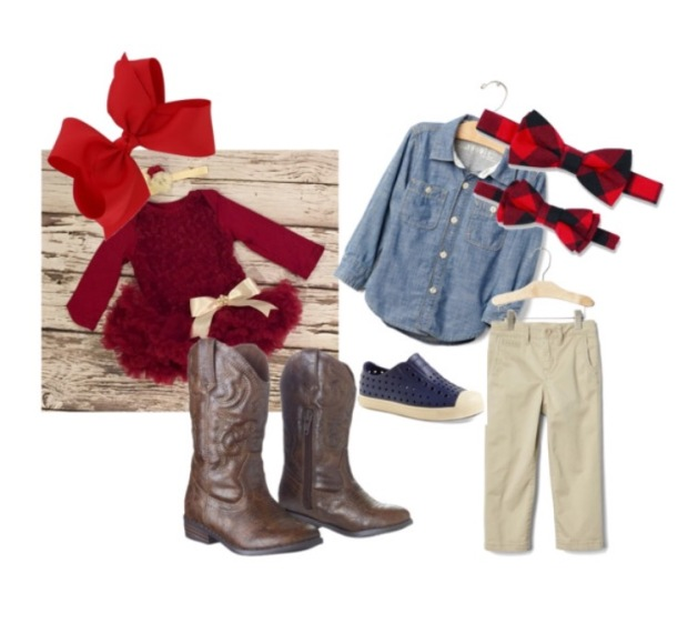 Christmas Card Photo Kids Outfits