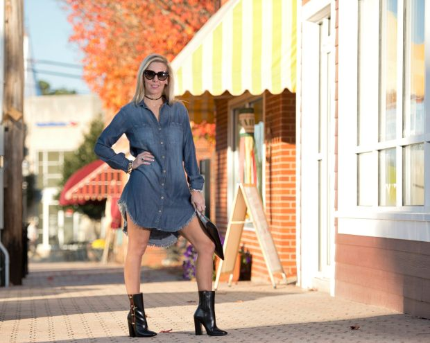 Chambray Dress Hi-Low