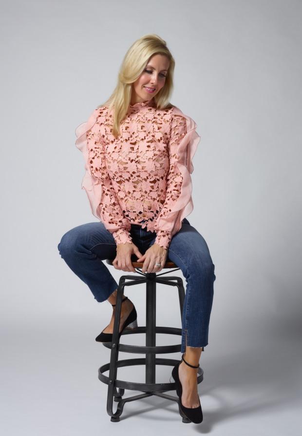 Pink Self-Portrait Blouse