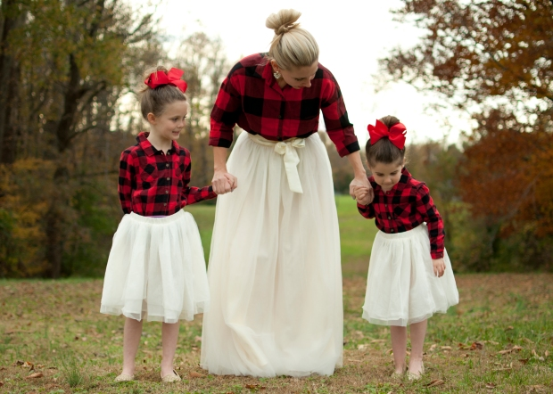 Buffalo Plaid and Tulle Skirts
