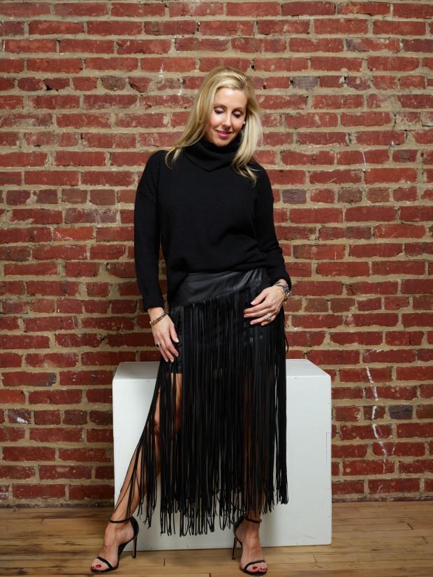 Long Fringe Skirt