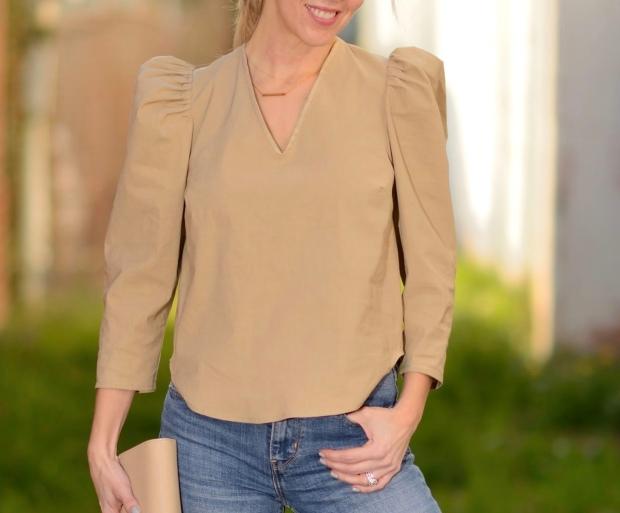 Sea Duchess Sleeve Camel Top