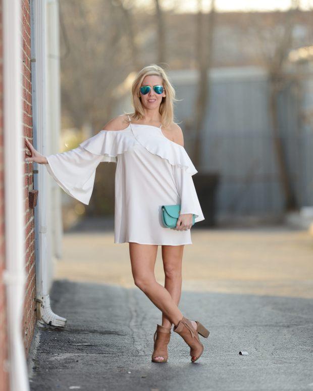 Make Me Chic White Ruffle Dress