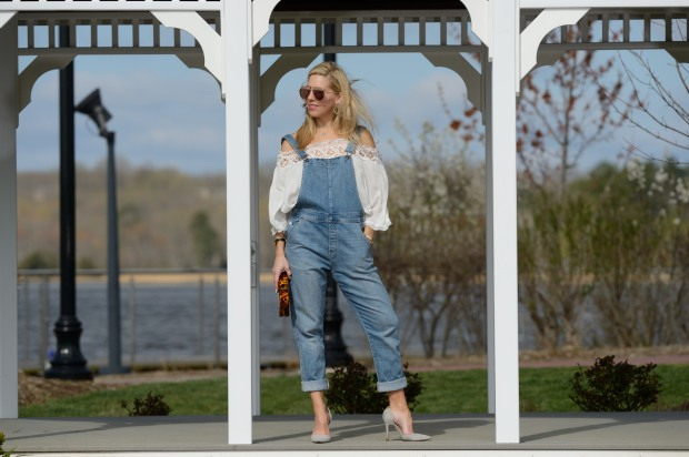 Off The Shoulder Top and Overalls