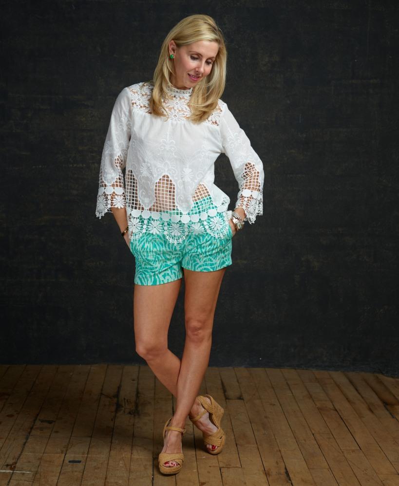 Crochet Top and Vineyard Vine Shorts