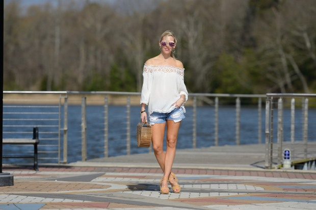 Off the Shoulder and Cutoffs