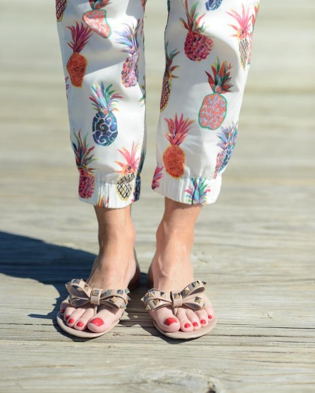 Seaside Pant in Pineapple Resort Wear
