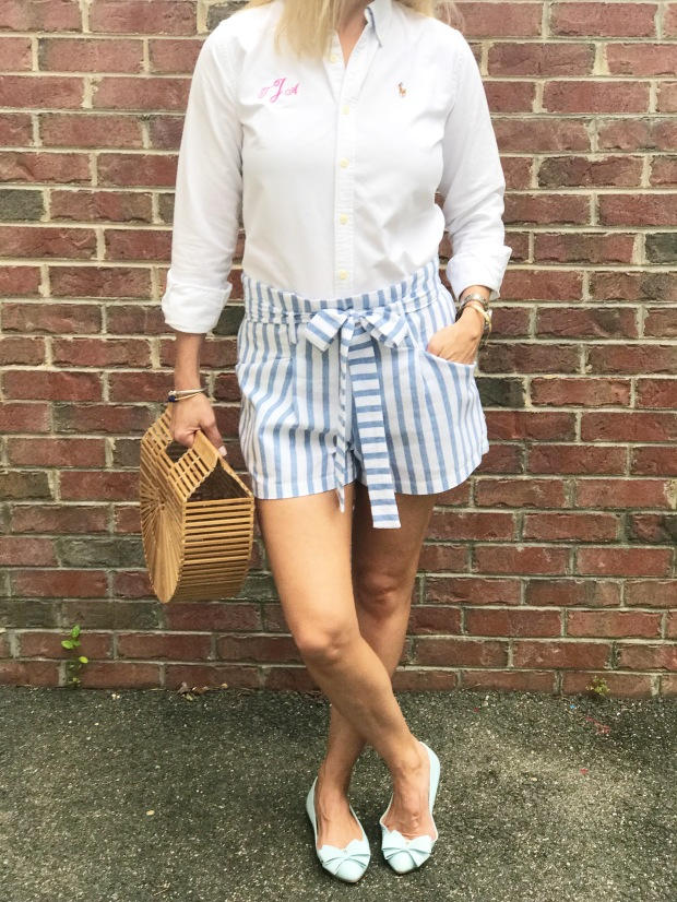 Make Me Chic Striped Belted Shorts