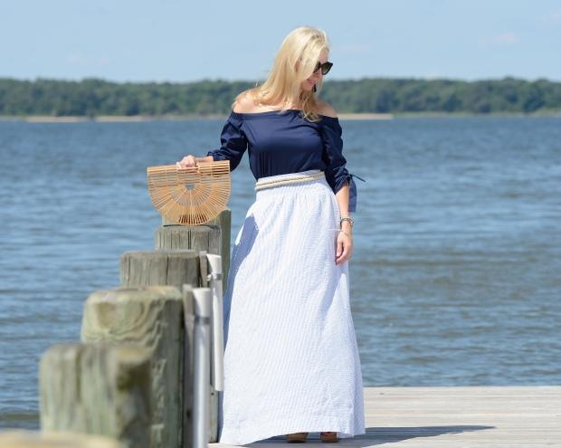 JCrew Seersucker Ball Skirt