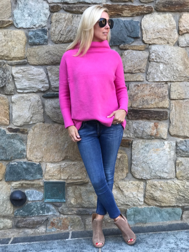 Free People Hot Pink Sweater